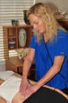 "Physio Therapist Belinda Wurn treating a ""Clear Passage"" patient."